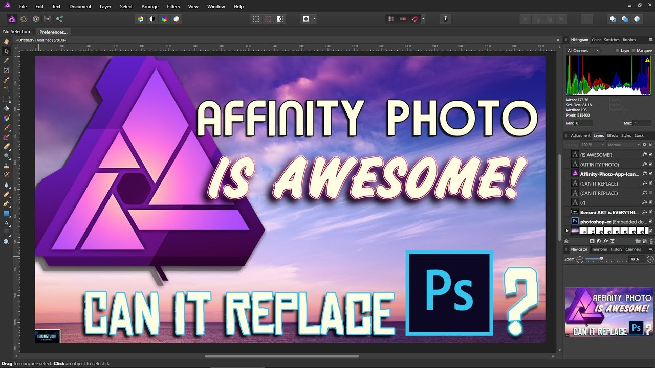 AFFINITY PHOTO IS AWESOME   PHOTOSHOP ALTERNATIVE NO SUBSCRIPTION