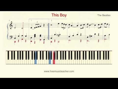 """How To Play Piano: The Beatles """"This Boy"""" Piano Tutorial by Ramin Yousefi"""