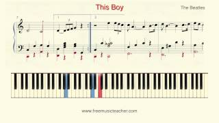 "How To Play Piano: The Beatles ""This Boy"" Piano Tutorial by Ramin Yousefi"