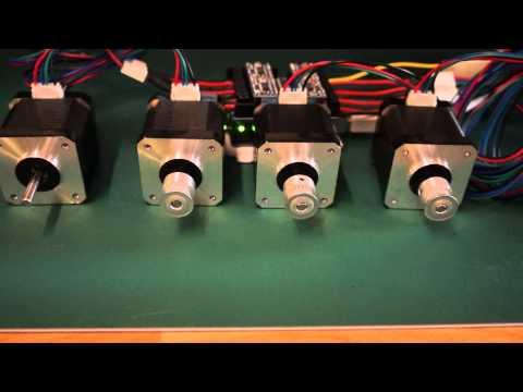 CNC Miller Electronics working - GRBL shield on Aurdino UNO