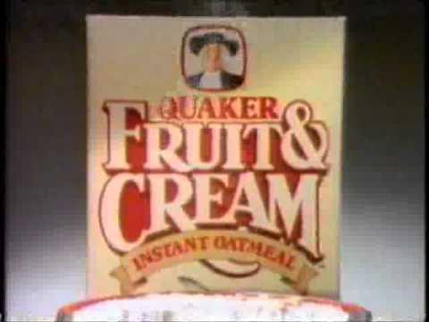 Quaker Fruit And Cream Instant Oatmeals