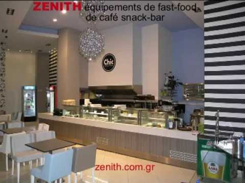 Quipements de magasins caf snack bar fast food youtube - Deco snack ...