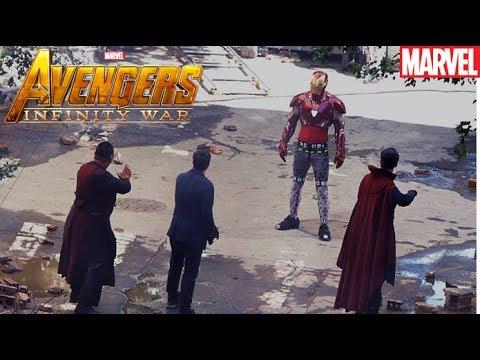 Infinity War Leaked Photos Iron Man Vs Dr Strange