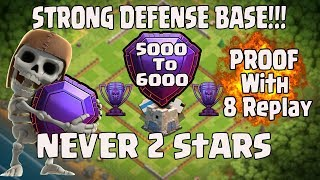 TH11 STRONG DEFENSIVE LEGEND BASE 2017 WITH 8 REPLY(GLOBAL NO.1 BASE)/NEVER 2 STAR /ANTI 0 STAR BASE