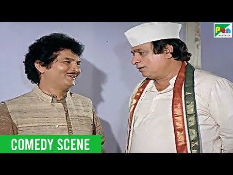 Asrani - Kader Khan - Comedy Scene | Jawab Hum Denge | Popular Hindi Movie | Jackie Shroff, Sridevi