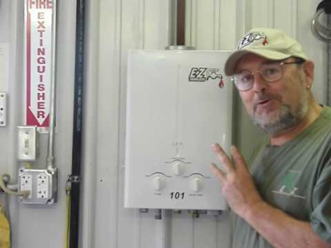 Portable tankless water heater connections - EZ101 camping farm ranch hunting fishing cabin