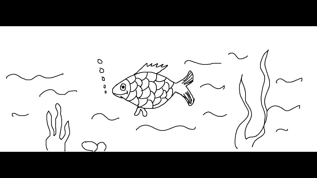 Easy Kids Drawing Lessons How to Draw a Cartoon Fish for KIDS
