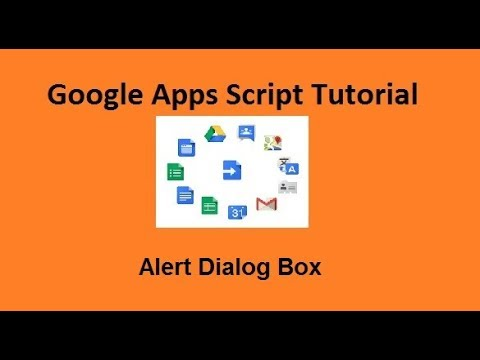 Alert Dialog Box Google Apps Script Tutorials 11