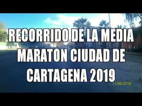 RECORRIDO MEDIA MARATON DE CARTAGENA 2019