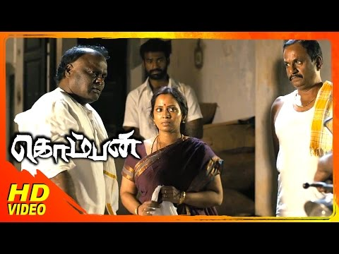 Komban Tamil Movie | Scenes | Super Subbarayan Visits His Daughter House | Karthi