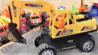 Many Trucks Transporting Color Balls | Excavator and Vehicles Toys For Children