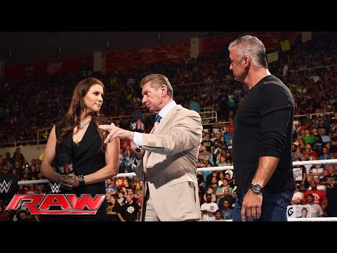 Mr. McMahon reveals the Commissioners of Raw and SmackDown Live: Raw, July 11, 2016