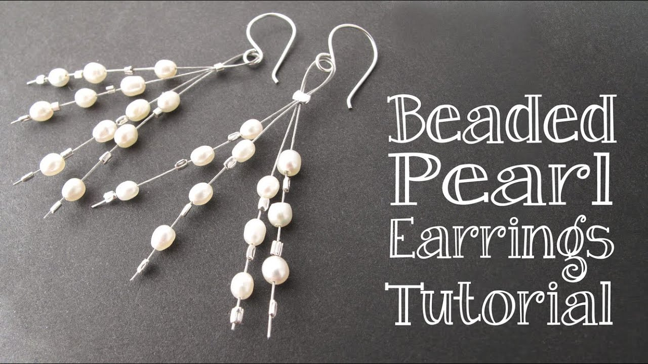 DIY Beaded Pearl Earrings Tutorial
