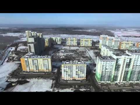 Микрорайон Парковый-2 (Челябинск) вид сверху с дрона Часть 2