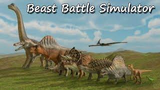 Необычные игры Безумная Войно Динозавров и животных Beast Battle Simulator The End
