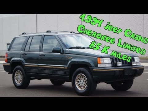 Superb 1994 Jeep Grand Cherokee Limited 4x4 5.2L V8 4 Door SUV 85K