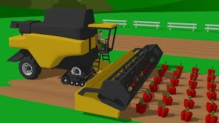#Harvester & #Tractor & Fire Brigade during the Harvest | Uses of Tractors and other Vehicles Kids