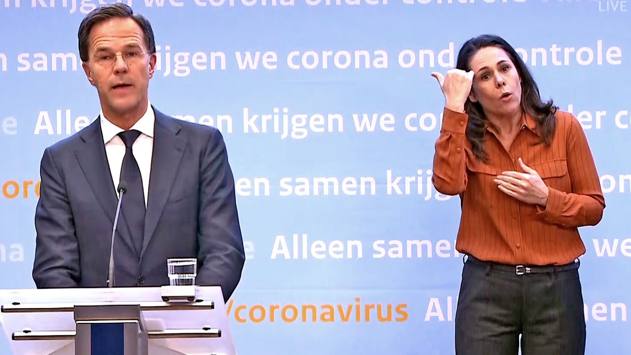 Persconferentie Premier Mark Rutte Over De Coronacrisis Op