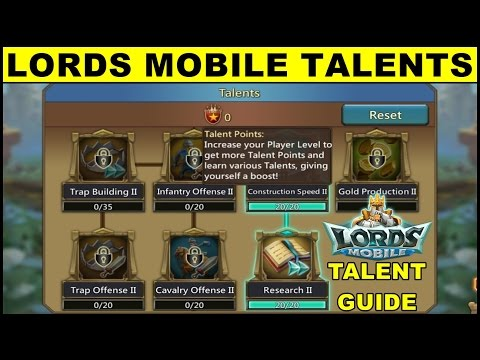 Lords Mobile Talent Guide ● Lords Mobile New Player Tutorial Game Guide (Android Gameplay)