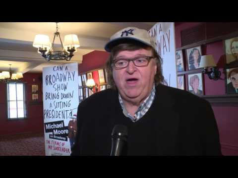 """Michael Moore interview - """"The Terms of My Surrender"""" Take on Trump on Broadway"""