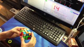 Rubik's Cube solved in 9.87 seconds