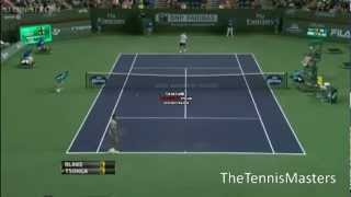 James Blake amazing points against Tsonga - ATP Indian Wells 2013