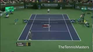James Blake amazing points against Tsonga - ATP Indian Wells 2013