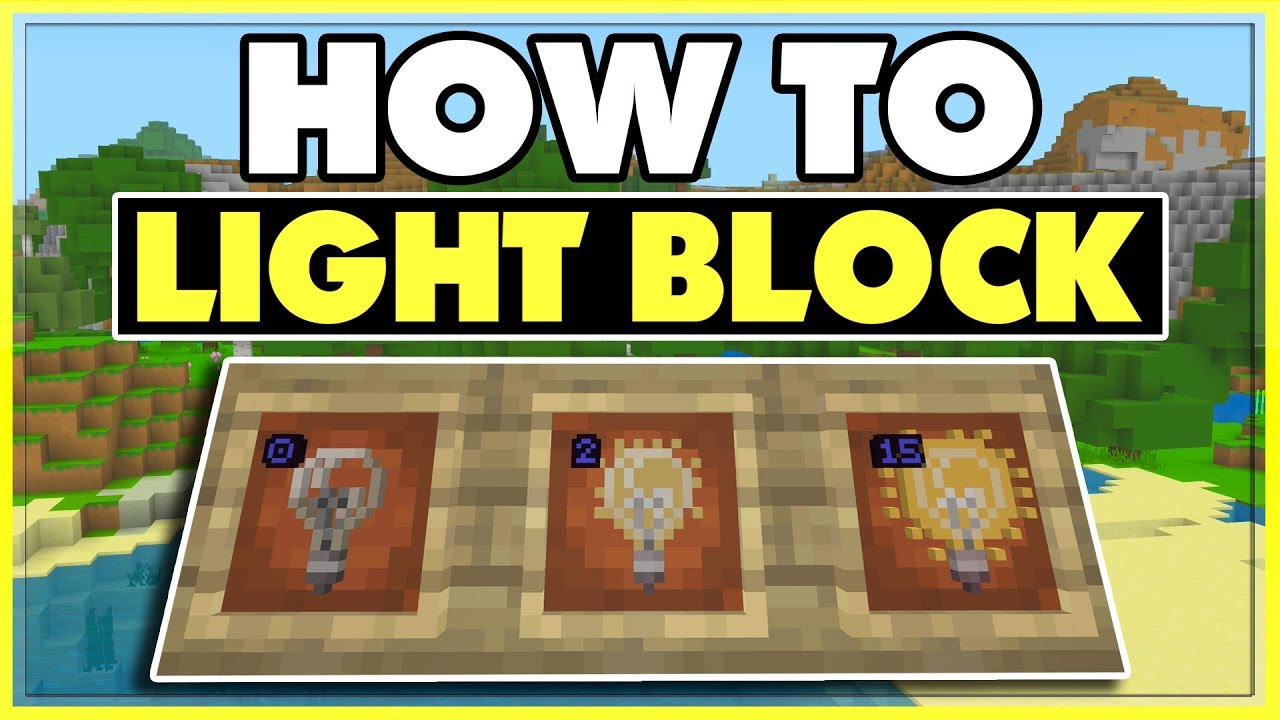 How To Use The Light Block In Minecraft Bedrock Minecraft Pe Youtube
