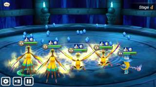 summoners war - 4x teshar vs water martial cat sd