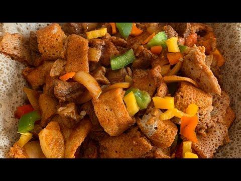 ጥብስ ፍርፍር- Tibis firfir Ethiopian food