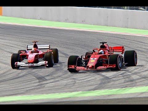 Ferrari F1 2018 vs Ferrari F1 2004 - Barcelona-Catalunya
