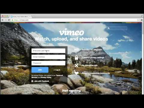 Sign up For Vimeo Account Tutorial