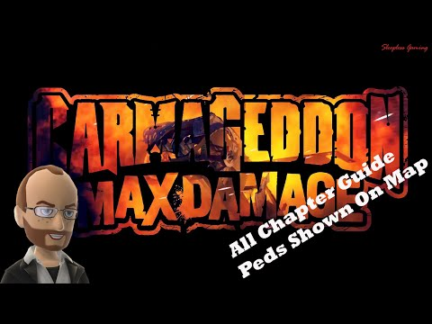 Peds Shown on Map - Carmageddon: Max Damage - All Chapters