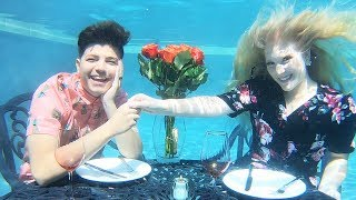 I Had an UNDERWATER Date with PrestonPlayz!