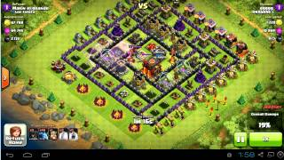 3005 dark elixir against a th10 with loonion and minions | DE farming | clash of clans