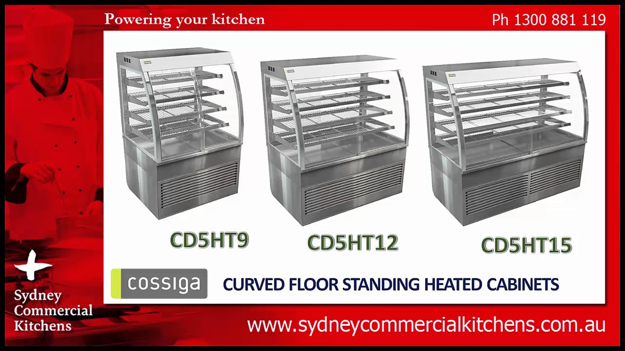 Cossiga Curved Floor Standing Food Display Cabinets Sydney Commercial Kitchens