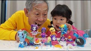 My Little Pony MLP Fashion Squad Mix and Match Rainbow Dash Applejack Rarity Cutie Mark Cuties - 로미유