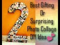 DIY:How to make Photo Memory Number Collage
