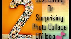 """DIY:How to make Photo Memory Number Collage """"2"""" Prop