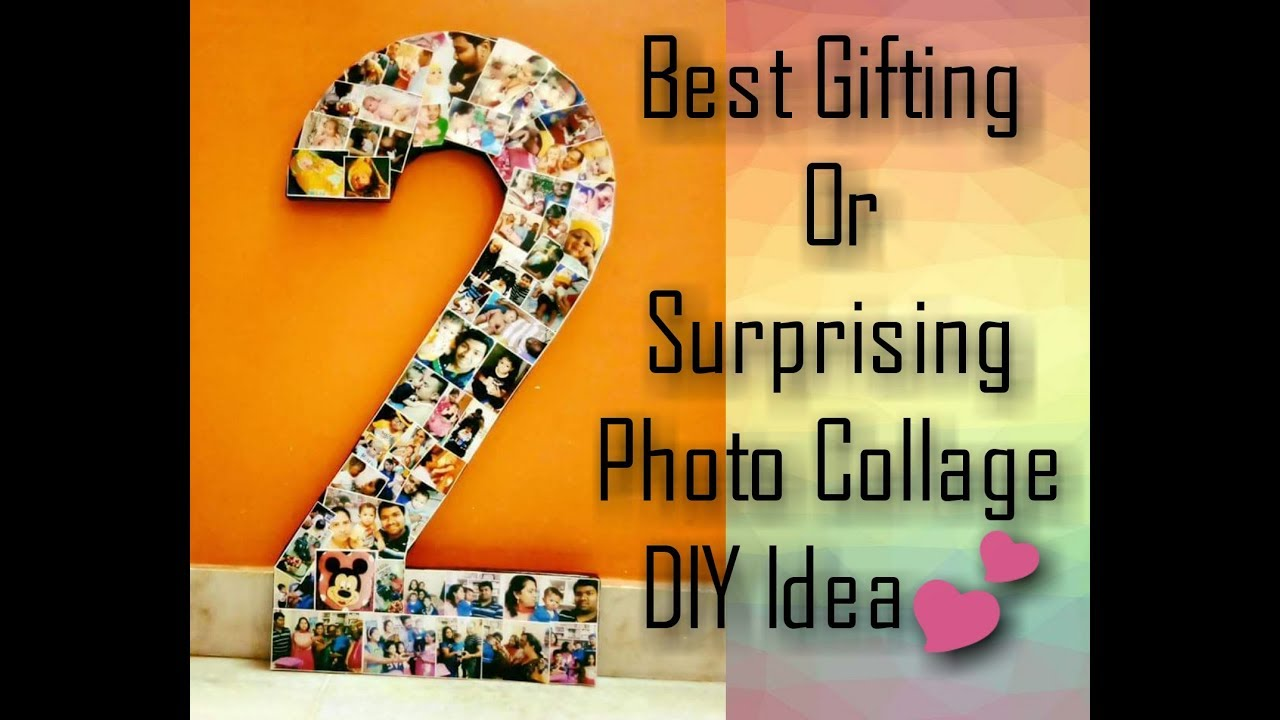 Diy How To Make Photo Memory Number Collage 2 Prop Wall Frame