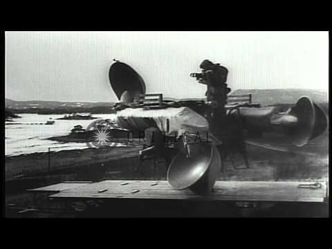 German Invasion of Norway during World War II. HD Stock Footage