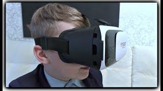 3D ОЧКИ Виртуальной реальности VR BOX типа Google CardBoard, Gear VR РАСПАКОВКА И ТЕСТ