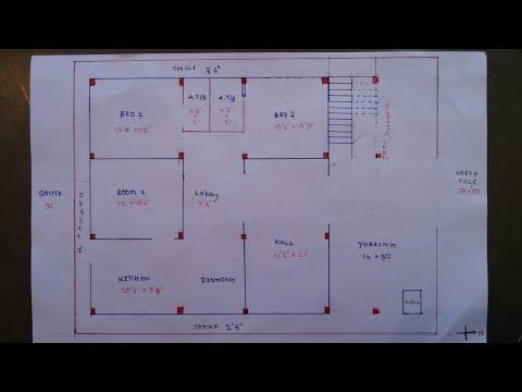30 × 50 north face house plan map naksha
