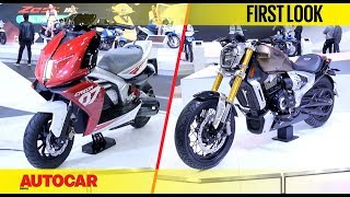 TVS Zeppelin and Creon concepts | First Look | Auto Expo 2018 | Autocar India