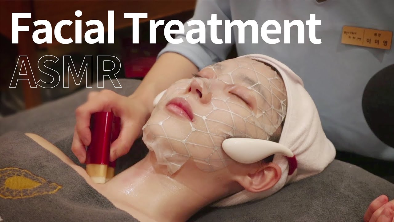 [스파 체험 ASMR] 피부 관리 & 림프 마사지 | Korean Spa Skincare | no talking