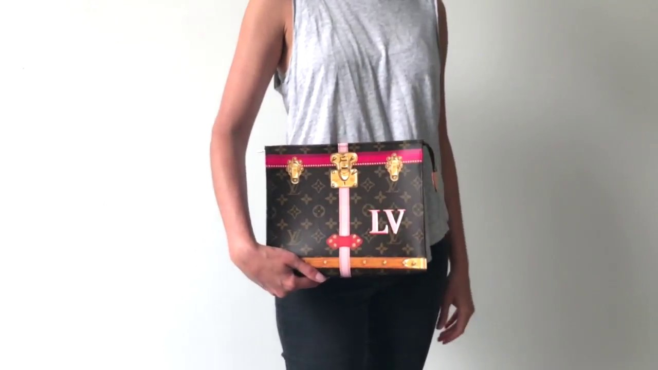 fc40140251d8 Louis Vuitton Summer Trunk Printed Toiletry Pouch 26 Monogram Limited  Edition