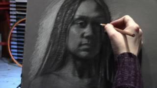Charcoal Portrait of Martika