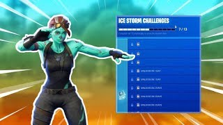 "How to UNLOCK NEW ""ICE STORM"" Challenges In Fortnite Battle Royale!"