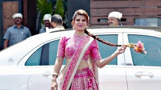 Jacqueline Fernandez Looks Beautiful In Pink Lehenga At Sonam Kapoor Wedding