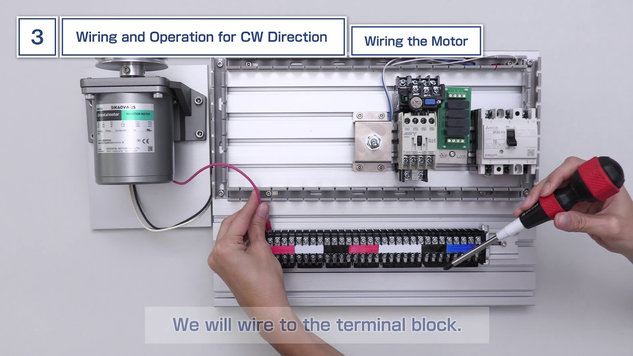 hight resolution of wiring and operation of kiis series 3 phase ac induction motors